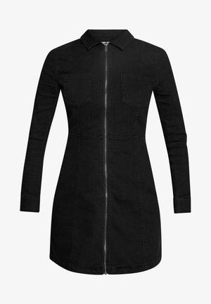 NMLISA ZIP DRESS - Jeanskjole / cowboykjoler - black