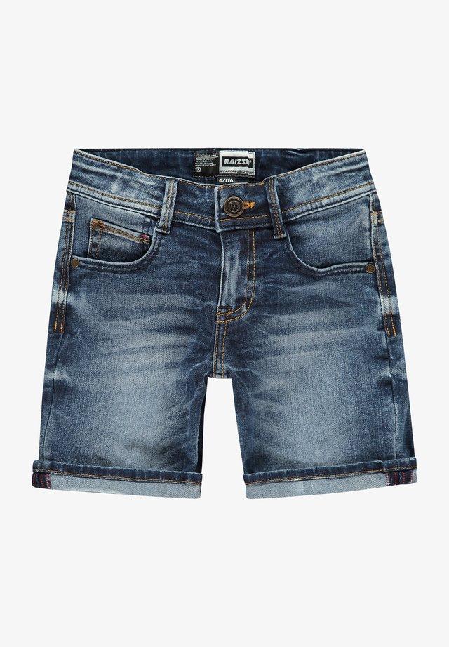 Denim shorts - dark blue stone
