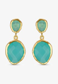 QOOQI - Earrings - turquoise - 0