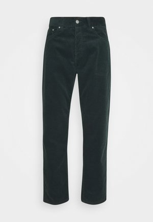 NEWEL - Trousers - dark teal rinsed