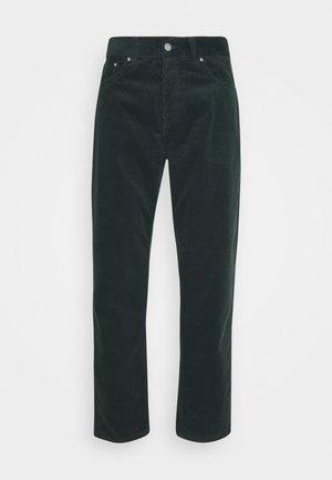 NEWEL - Kalhoty - dark teal rinsed