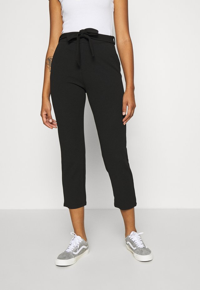 SMART TROUSERS WITH BELT - Kalhoty - black