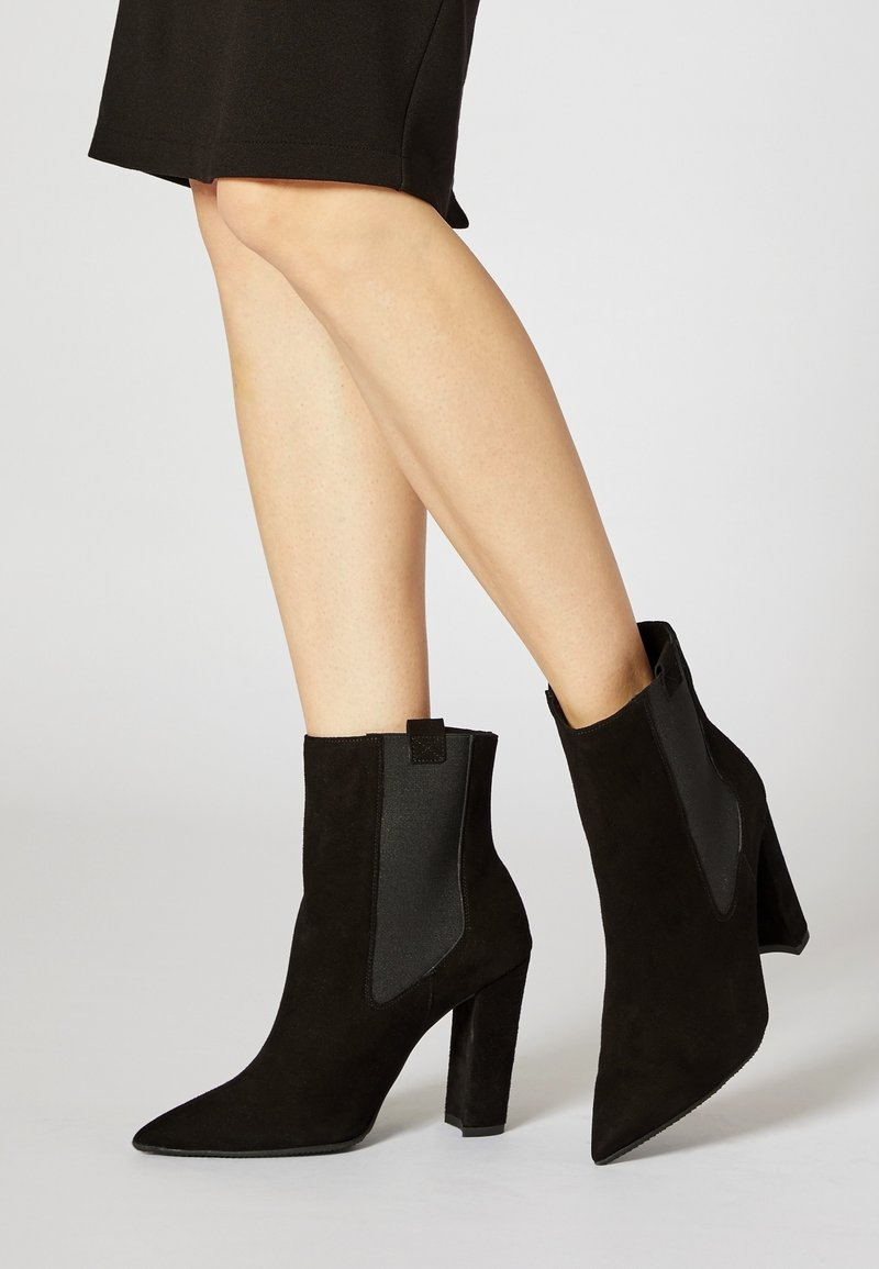faina - High heeled ankle boots - black