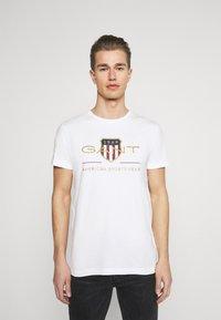 GANT - ARCHIVE SHIELD - T-shirt med print - white - 0