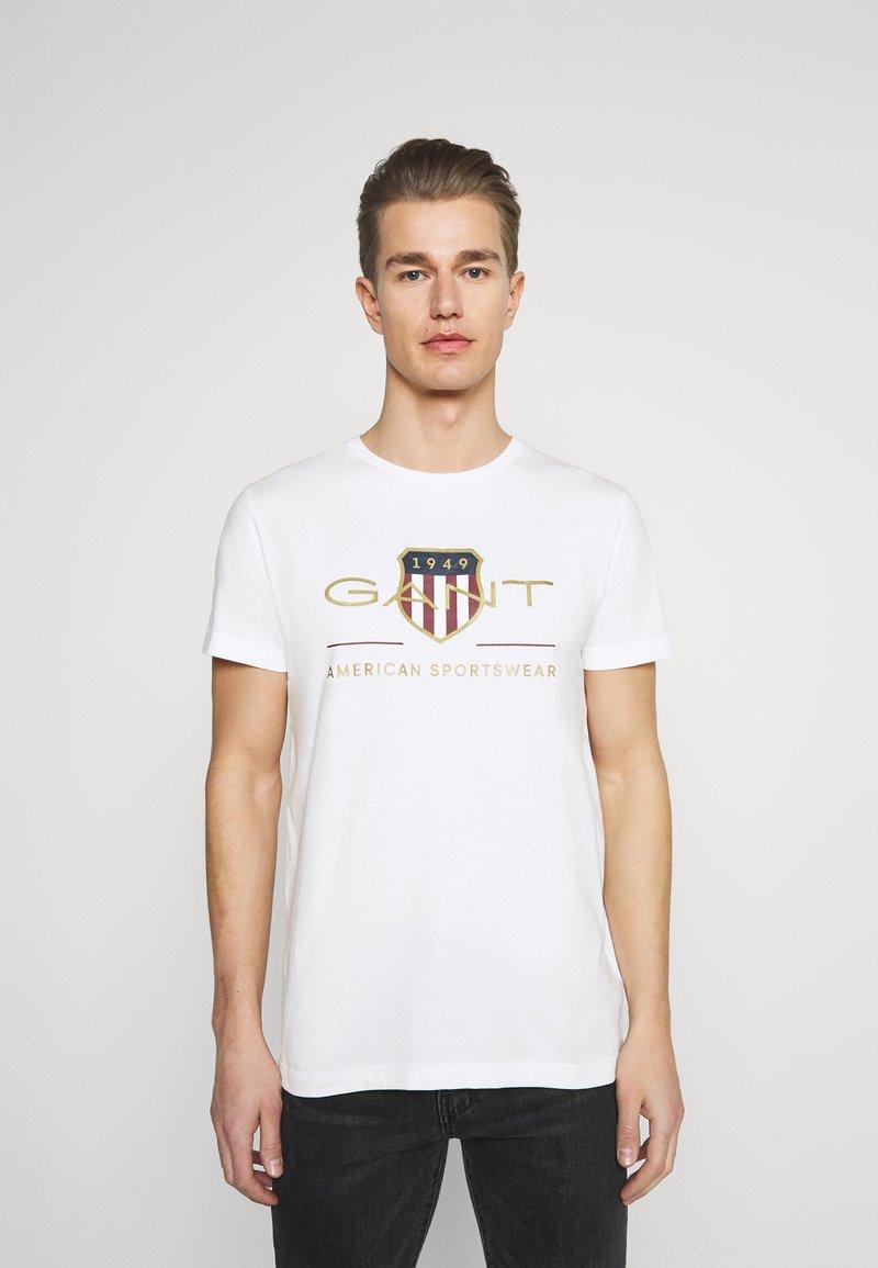 GANT - ARCHIVE SHIELD - T-shirt med print - white