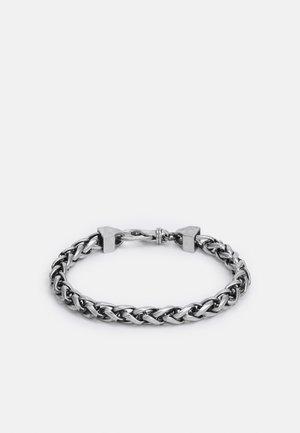 NARROW WHEAT WIRE CHAIN UNISEX - Zapestnica - antique silver-coloured