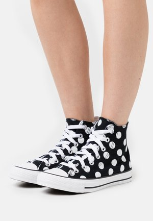 CHUCK TAYLOR ALL STAR POLKA DOT GLITTER - Baskets montantes - black/white