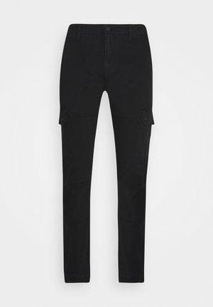 SOLYTE - Pantalon cargo - noir