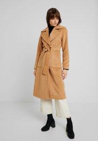 YAS - YASLEANN COAT - Classic coat - tan - 0