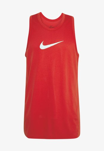 DRY CROSSOVER - Sports shirt - university red/white