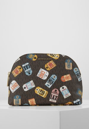 JET SETLG TRAVEL POUCH AIRPORT SOFT - Toalettmappe - brown/multi