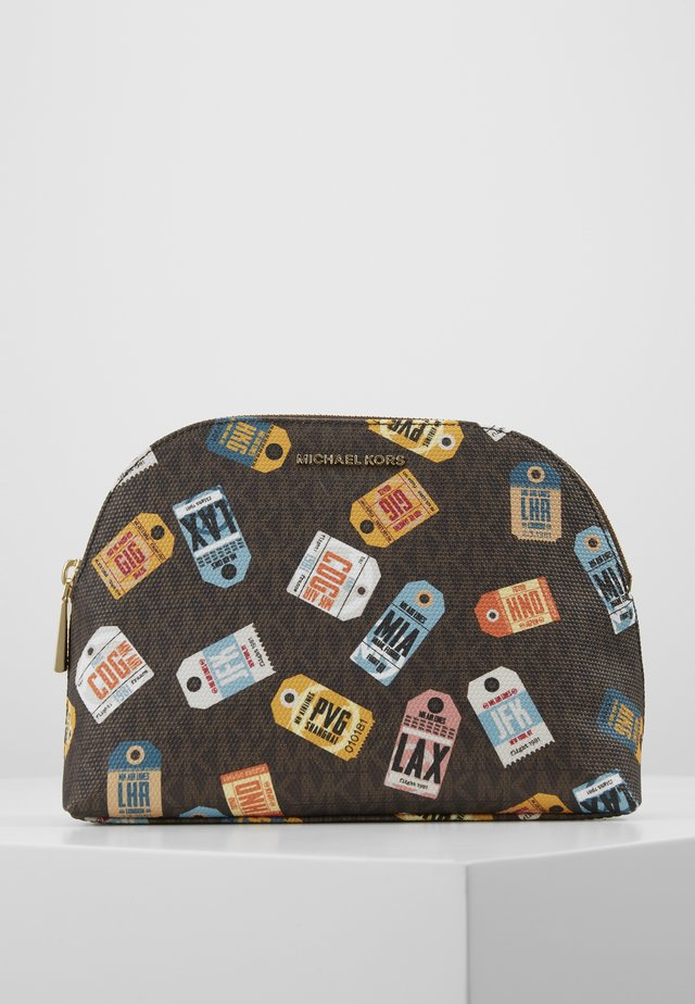 JET SETLG TRAVEL POUCH AIRPORT SOFT - Toilettas - brown/multi