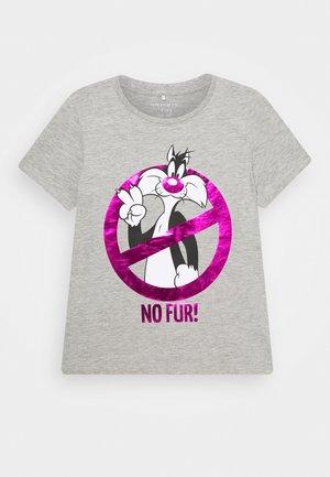 NKFLOONEY KALULA - T-shirt print - grey melange