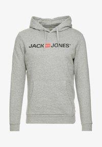 Jack & Jones - JJECORP LOGO HOOD - Luvtröja - light grey melange - 3