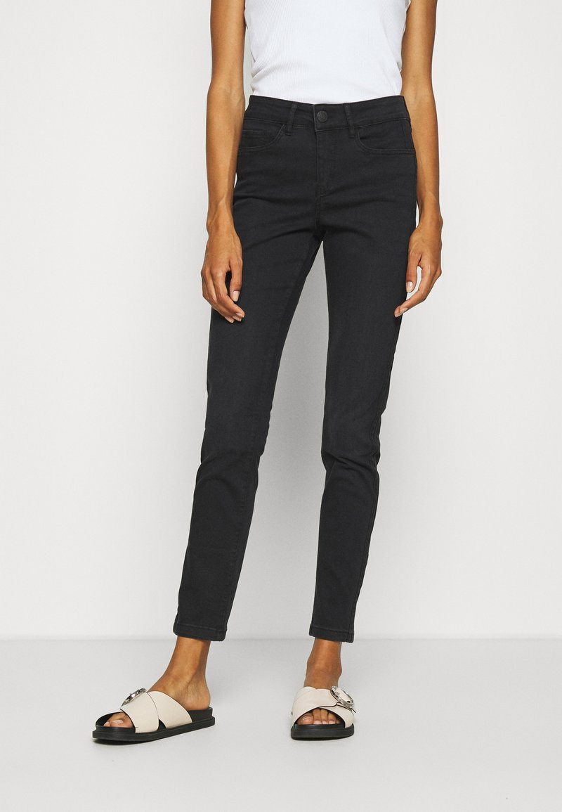 Opus - EMILY SNAKE TAPE - Jeans Skinny Fit - coal black