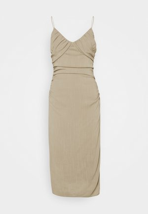 BE MINE RUCHED DRESS - Robe de soirée - beige