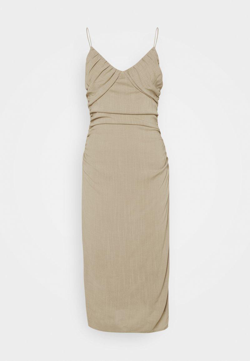 Nly by Nelly - BE MINE RUCHED DRESS - Koktejlové šaty/ šaty na párty - beige