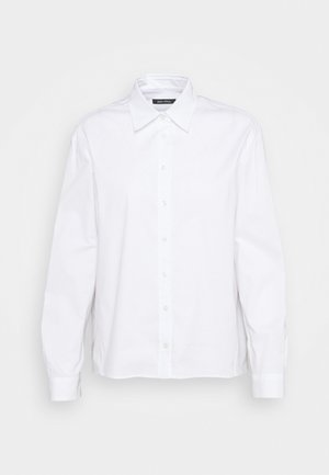BLOUSE OVERSIZED FIT LONG SLEEVED - Button-down blouse - white