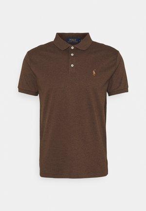 SLIM FIT SOFT COTTON POLO SHIRT - Polo shirt - nutmeg brown heather