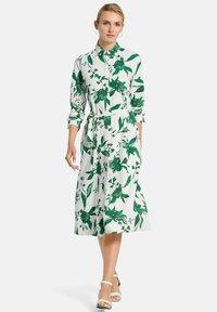 PETER HAHN - Shirt dress - weiß/grün/multicolor - 1