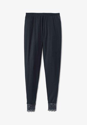 MIT SPITZENBÜNDCHEN - Pyjama bottoms - dark lapis blue