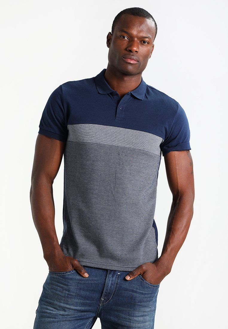 Pier One - Polo shirt - dark blue/mottled grey