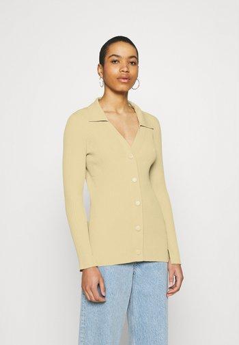 CARDIGAN - Cardigan - beige/yellow