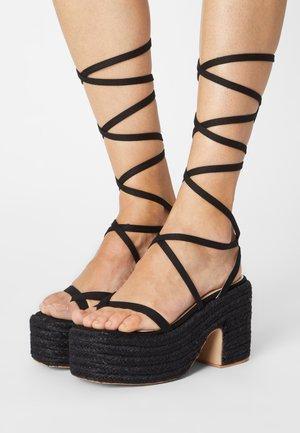 KENDRA - Korkeakorkoiset sandaalit - black