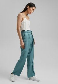 Esprit Collection - Trousers - dark turquoise - 1