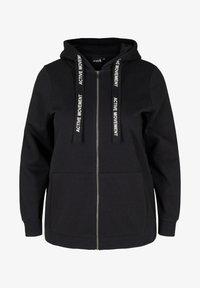 Active by Zizzi - Zip-up sweatshirt - black - 3