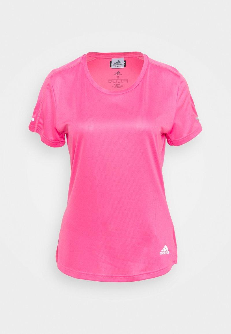 adidas Performance - RUN IT TEE - T-shirts - semi solar pink