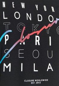 CLOSURE London - CITY TEE - Print T-shirt - black - 5