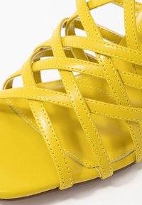 Topshop - RHAPSODY STRAPY - Sandály na vysokém podpatku - lime - 2