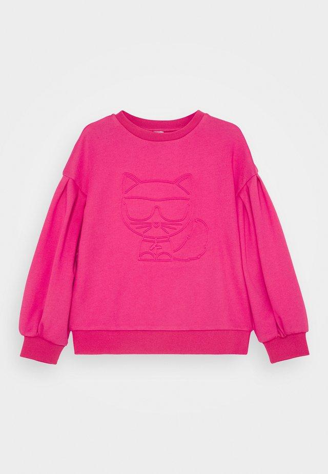 Sweatshirt - fuschia