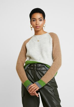 ANNA LYN COLORBLOCK - Sweter - offwhite