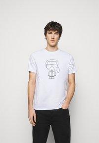 KARL LAGERFELD - CREWNECK - Print T-shirt - white/black - 0