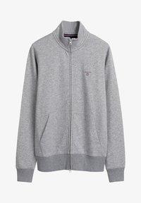 GANT - Zip-up hoodie - grey melange - 4