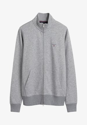 veste en sweat zippée - grey melange