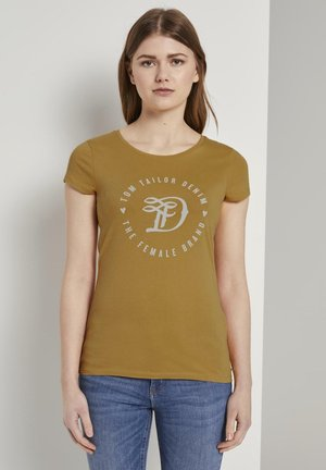 Print T-shirt - indian spice yellow
