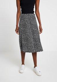 KIOMI - A-line skirt - black/white - 0