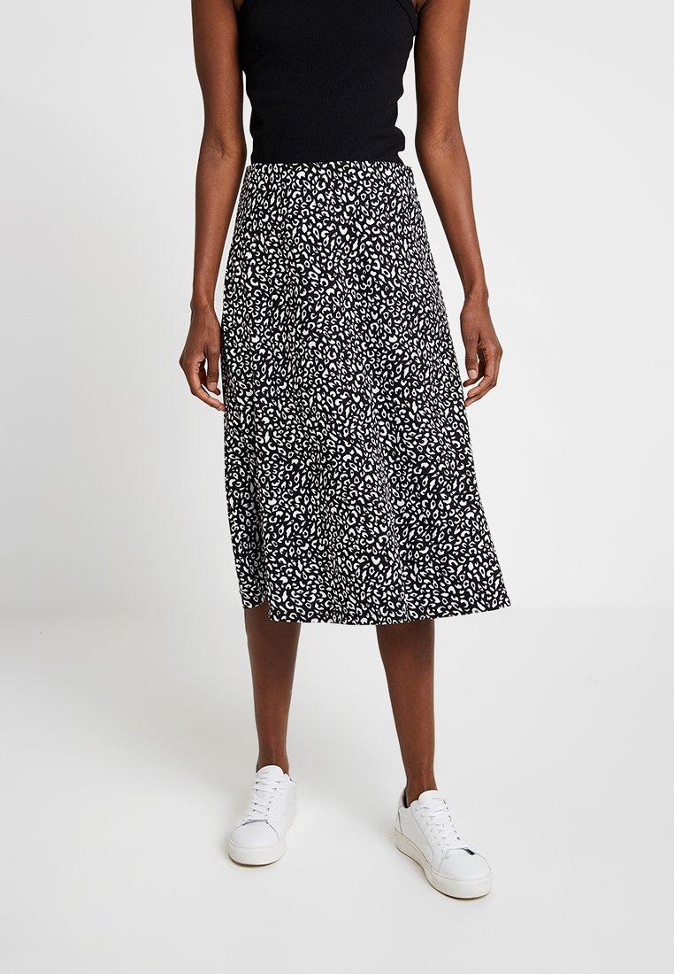 KIOMI - A-line skirt - black/white