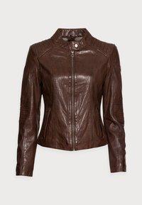 Gipsy - JUANA LONTV - Leather jacket - dark brown - 4