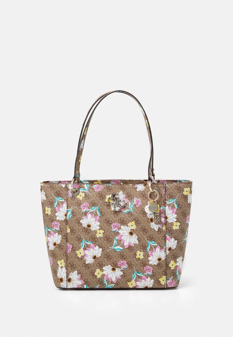 Guess - NOELLE ELITE TOTE - Tote bag - brown