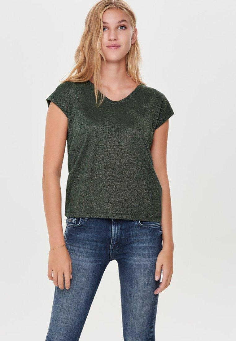 Women ONLSILVERY LUREX  JRS - Basic T-shirt