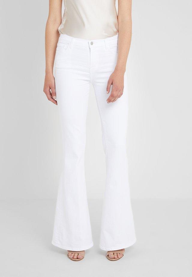 VALENTINA - Jeans a zampa - blanc