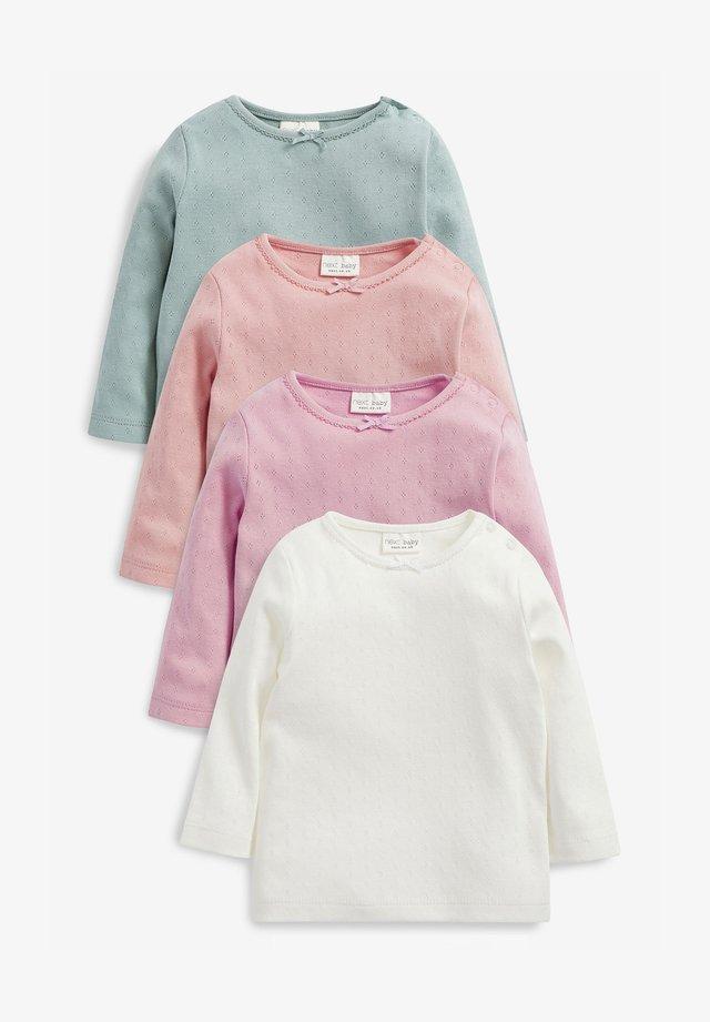 4 PACK POINTELLE - Long sleeved top - multi-coloured
