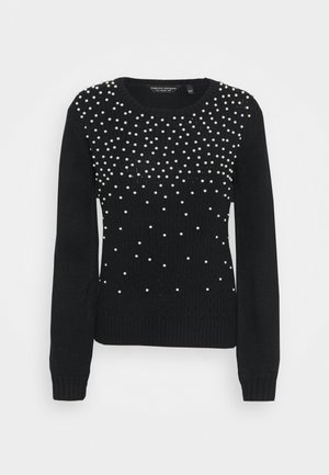 ALL OVER PEARL JUMPER - Strikkegenser - black