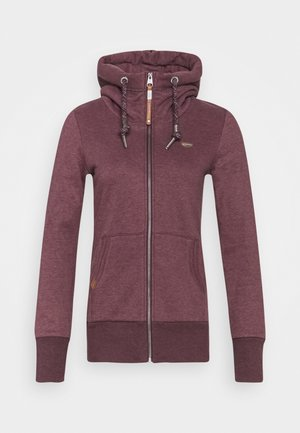 NESKA ZIP - Zip-up hoodie - wine red