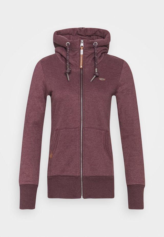 NESKA ZIP - veste en sweat zippée - wine red