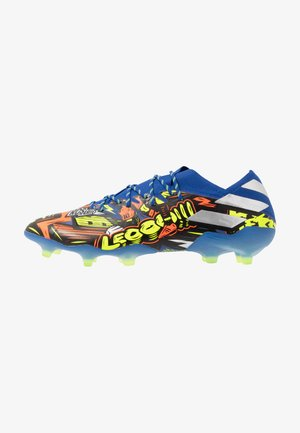NEMEZIZ MESSI 19.1 FG - Moulded stud football boots - team royal blue/silver metallic/solar yellow
